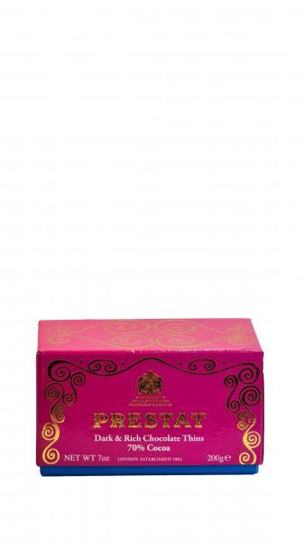 Prestat Dark & Rich Chocolate Thins 70% Cocoa